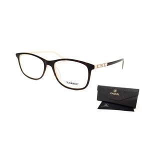 fd0f653595968 Armação Oculos Grau Feminino Chanel 3360 Acetato Linda
