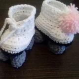 Escarpines Crochet Patines en Mercado Libre Argentina 7f87dad96fc