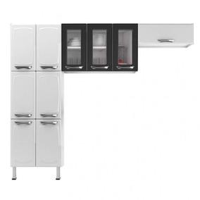 Cozinha Compacta 3 Peças Paneleiro 6 Portas Armário Bb