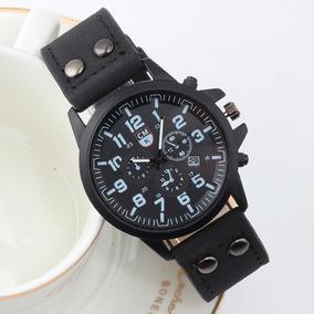 13651ac17b1 Relogio Quartz Couro Militar Casual - Relógios De Pulso no Mercado ...