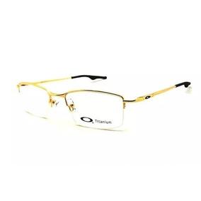 338377ed1f624 Armacao Oculos Titanium 3 Peças - Óculos Dourado no Mercado Livre Brasil