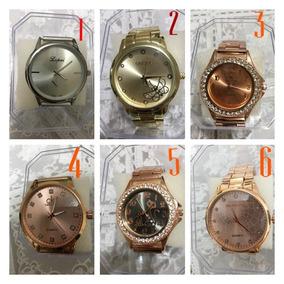 Kit Com 5 Relógios Femininos Baratos-com Caixa