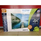 Pantalla Telstar 43 Smart Tv 4k Nueva!! Grupo Villa
