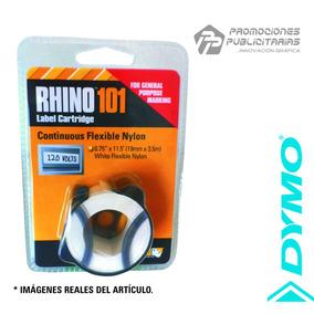 Cinta Dymo Rhino 101 Nylon Flexible Continuo Blanco
