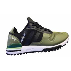Tenis Original adidas Zx750 Verde Negro Para Niño