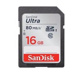 Sandisk Sdhc Ultra 80mb/s 532x 16gb Sd Câmera Nikon Samsung