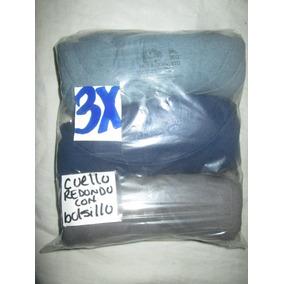 Camisetas D Interior Gris/azul Talla 3x Cuello Redondo Fruit