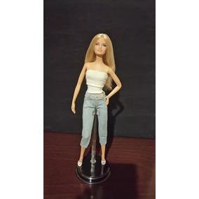 Boneca Barbie Basics Jeans Rara Número 11 Coleção 002 Loira