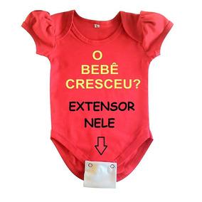 Extensores De Body Bebê - Kit 5 Peças - 2 Ou 3 Botões