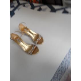 Sandália Dourado Com Tiras