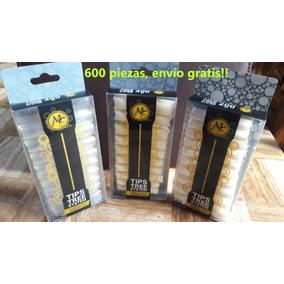 Tips Punta Curva En C 600 Pzs Mc Nails + Envío Gratis