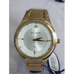 9d4bab6ed92 Relógio Atlantis Rose Feminino Com Strass - Relógios De Pulso no ...