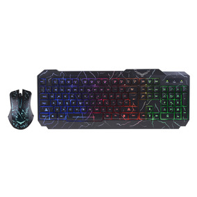 Kit Teclado Y Mouse Gamer Rgb Led Multimedia Naceb Na-633