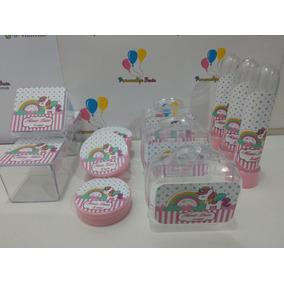 Kit*festa Infantil Personalizado Tema Unicórnio (50 Itens)