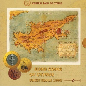 Euro Cyprus Blister 2008 Euro-currency Mint Set 8 Coins Un