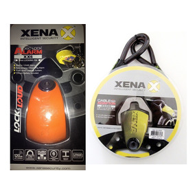 Kit Candado Xena C/alarma Xx6,hd (anaranjado) + Cable Xxa