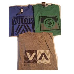 Playeras Volcom R V C A Originales Lote 3pz Originales Rvca