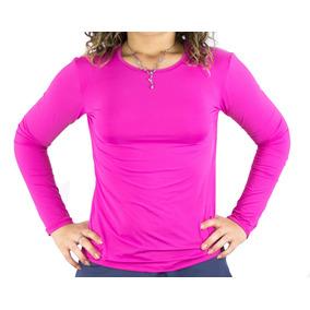 Camiseta Feminina Segunda Pele Com Proteção Solar Uv 50+