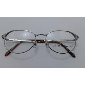 d74ab5739df Armação Óculos Grau Ricoco Banhado A Ouro Branco 22kgp