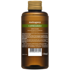 Mahogany Refil De Difusor De Ambiente Capim Limão 150 Ml