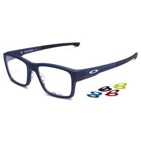 Armação Oculos Grau Oakley Splinter Ox8077 0754 Soft Blue ea9c295130