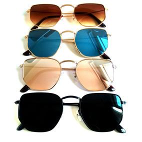 200e10c09a251 Óculos De Sol Feminino Hexagonal Lançamento Verão 2019 Uv400