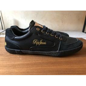 Tenis Pepe Jeans Piel Negros 8 Mx