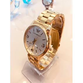 c8acf1398d356 Relogio Feminino Emporio Armani Dourado - Relógios De Pulso no ...