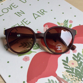 2f7452b05be21 Oculos Chanel Marrom De Sol - Óculos no Mercado Livre Brasil