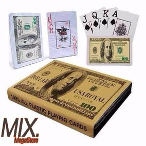 Baralho Duplo Dólar Com 108 Cartas E Estojo Poker Truco Zap