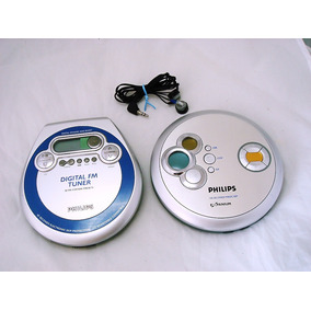 Lote 2 Discman Philips Exp2460 E Dbb + Fm Veja Anúncio