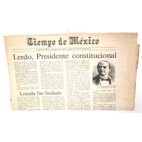 bbfd6f2647 Periodico De Mexico La Ilusion Del Tiempo De 1905 en Mercado Libre ...