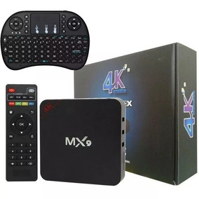 Smart Tv Box Mx9 4k 2gb Ram 16gb 2018 + Teclado Smart Led