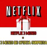 Cartao Pre-pago Presente Netflix R$15 Reais! 3 Mês! Ultra Hd