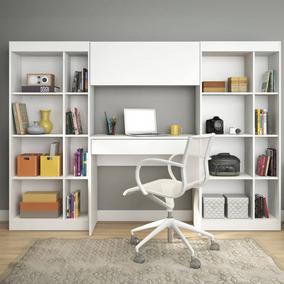 Home Office Com 1 Escrivaninha 2 Estantes 1 Armário Hf