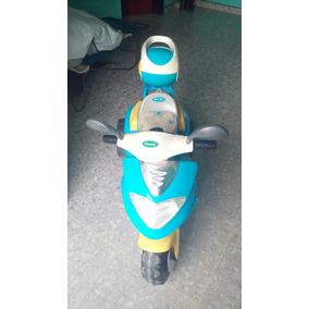 Moto Elecrtica Recargable Para Niños Color Azul
