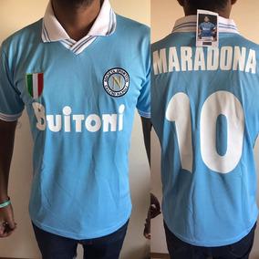 Camiseta Del Napoli De Italia Calcio El Equipo De Maradona ... 02c4b5540b2e3