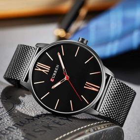 Elegante Y Fino Reloj Curren 8238 Resiste Agua + Estuche