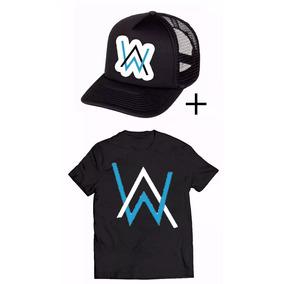 Kit Camiseta + Boné Alan Walker Dj Musica Style Eletronica 804e9272cecd