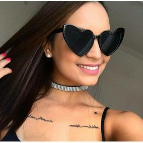 94e1d829b4847 Óculos De Sol Coração Espelhado - Óculos no Mercado Livre Brasil