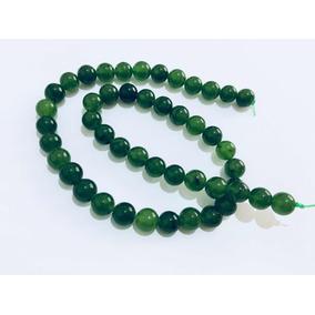 Jade Verde Tira De Cuarzo Bola De 6mm 40 Cuarzos