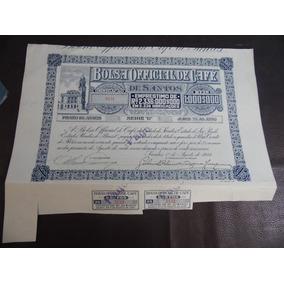 Antigo Documento - Bolsa Official De Café - 1923