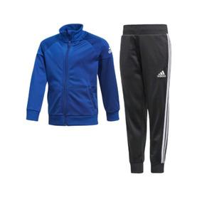 Conjunto Deportivo adidas Para Caballero Azul Con Negro
