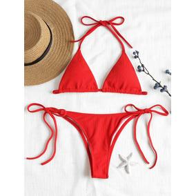 76cadc641b9 Diseño Creativo Acanalado Tie Lado Bikini Set Moda por Inlife. 2 vendidos ·  Crochet Traje De Baño ...
