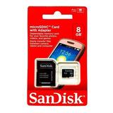 Cartão Memória Micro Sd 8gb Lacrado Original Promoção + Adap