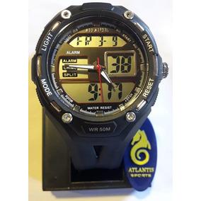 Relógio Digital Atlantis G7414 Preto Masc Novo - Original