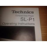Catalogo Technics Compact Disc Player Sl-p1 Digital