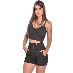 8e392d2b73d0 Conjunto Feminino Cropped Short - Calçados, Roupas e Bolsas em São ...