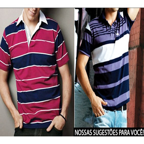 Camisa Polo Listrada Kit - Pólos Manga Curta Masculinas em São Paulo ... 11bc5f65fe