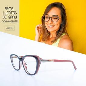 4cdd779ed3166 Armação Óculos Feminino Com Lentes S  Grau Cpcb 2850 Café. R  65 77